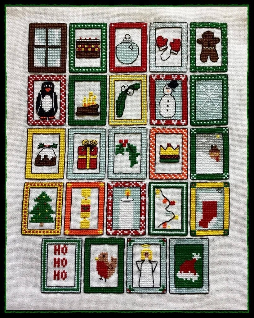 Free Cross stitch advent calendar  - Craft with Cartwright