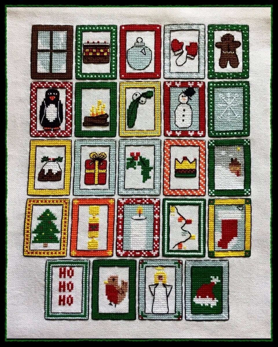 Free cross stitch advent calendar pattern